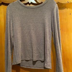Madewell Lavender Marl Shirt